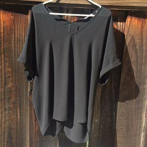Lush Black short sleeve top